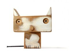 Pets, Home & Garden: Ideal toys for small cats Kids Woodworking Projects, Scrap Wood Projects, Diy Woodworking, Christmas Toys, Christmas 2016, Ideal Toys, Wood Animal, Wood Scraps, Driftwood Art
