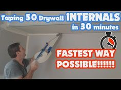 How to Mud & Tape an Inside Corner of Drywall Fast with a Mud Box - YouTube