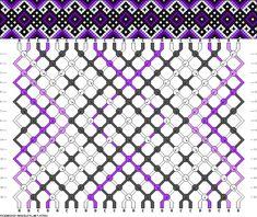 Muster # 47552, Streicher: 24 Zeilen: 16 Farben: 4