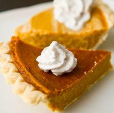 Vegan pumpkin pie {eggless, dairy-free}. Need to find grain-free crust recipe.