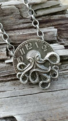 Check out this item in my Etsy shop https://www.etsy.com/listing/472274313/steampunk-octopus-necklace-with