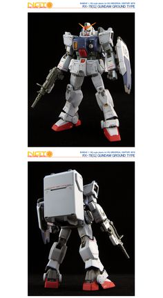 HG Gundam Ground Type - Customized Build Modeled by NGT Factory Japan Ground Type, Real Robots, Mobile Suit, Gundam, Master Chief, Darth Vader, Japan, Building, Model