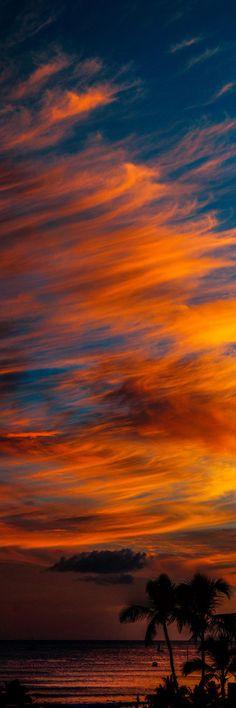 Hawaii Sunset on Waikiki Beach