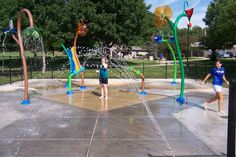 Splashpad at Fontenelle Park in Omaha, Nebraska | #Vortex, #Splashpad, #happysplashpadder, www.vortex-intl.com