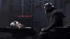 New image of Kylo Ren and Darth Vader's helmet.
