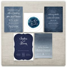 'starry night', on Minted.com Like the typesetting with the date centered and stacked in bottom row