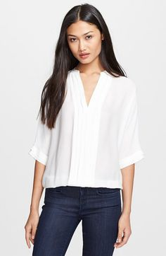 Joie Joie 'Marru' Semi-Sheer Silk Blouse available at #Nordstrom
