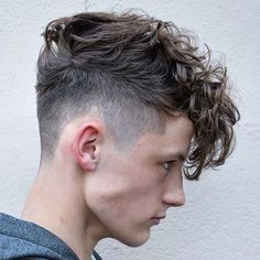 Taper Fade with Curly Fringe