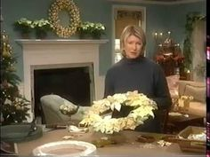The Best of Martha Stewart Living - The 12 Days of Christmas - YouTube  Around 16:15  How to make a beautiful poinsettia wreath  from ribbon