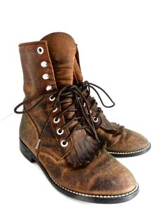 Vintage 1970s Brown Moccasin Boots