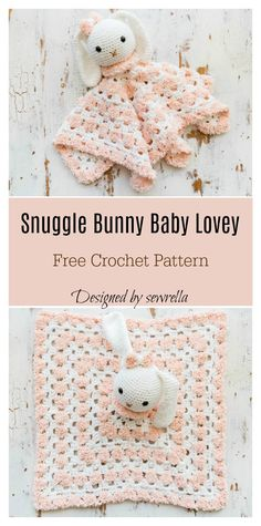 Snuggle Bunny Baby Lovey Free Crochet Pattern This Bunny Lovey Free Crochet Pattern is perfect for a new baby. It is easy and fun to make. Crochet Lovey Free Pattern, Crotchet Patterns, Crochet Gratis, Crochet Amigurumi, Crochet Blanket Patterns, Free Crochet, Baby Patterns, Crochet Security Blanket, Lovey Blanket