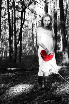 With her heart in her hands.