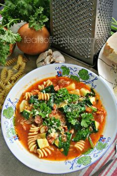 Italian Sausage Soup | Feats of Feasts | A Food Blog