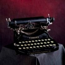 """Ernest Hemingway to Irving Penn:  """"Your photos are really good. What camera do you use?""""  Irving Penn to Ernest Hemingway:  """"What typewriter do you use?""""    (Hemingway's favourite typewriter was his Corona #3) #hemingway #irvingpenn"""
