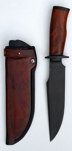 Really nice hunting knife design. Taurus 21 custom knife by Erik Markman from Holland //