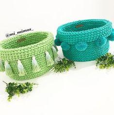 Trendy Sewing Patterns Storage Home Crochet Bowl, Knit Or Crochet, Knitting Patterns, Sewing Patterns, Crochet Patterns, Sewing Pattern Storage, Crochet Home Decor, Fabric Yarn, Beautiful Crochet