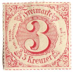 vintage postage stamps, German State postage stamp: Thurn and Taxis c. Old Stamps, Vintage Stamps, Vintage Paper, Thurn Und Taxis, Going Postal, Vintage Typography, Vintage Logos, Retro Logos, Mail Art