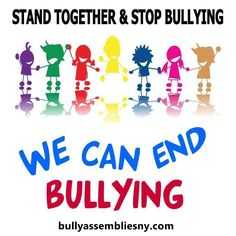 Bully Assemblies NY Now Offering Anti-Bullying Shows for Schools Nationwide Stop Bullying Now, Anti Bullying, Cyber Bullying, Stop Bullying Posters, Stop Bulling, Bullying Quotes, Bullying Lessons, Bullying Prevention, Together We Can