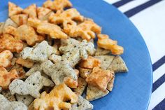 three types of homemade cheez-its
