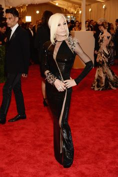 minus her face (sorry, Donatella!) // Met Ball 2013: Red Carpet Fashion From Your Favorite Stars (PHOTOS) - Donatella Versace