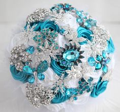 A beautiful brooch bouquet can be added to your wedding package!