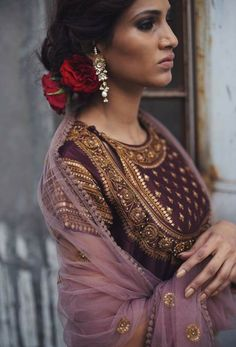 DAZZLING DETAILS ♥️ This Wine Anarkali with Gold accents is making our Monday better, what about you? Shop this Look. Link in bio⭐️ . Indian Suits, Indian Attire, Indian Wear, Punjabi Suits, Kurta Designs, Blouse Designs, Pakistani Dresses, Indian Dresses, Anarkali