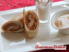 Filets de poulet farcis aux abricots secs, sauce au foie gras