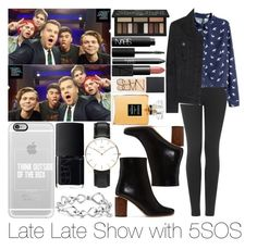 """""""Late Late Show with 5SOS"""" by sassy-queen01 ❤ liked on Polyvore featuring Topshop, H&M, Paige Denim, Acne Studios, Kat Von D, NARS Cosmetics, Chanel, Casetify, Daniel Wellington and David Yurman"""