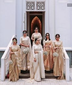 Indian wedding bridesmaids - 12 Fabulous Bridesmaids Photo Shoot Ideas To Steal From Real Weddings Indian Wedding Bridesmaids, Indian Bridesmaid Dresses, Bridesmaid Saree, Bridesmaid Outfit, Brides And Bridesmaids, Christian Wedding Sarees, Christian Bride, Christian Weddings, Bridal Shoot