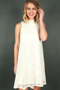 Lace Me Lovely Dress in Cream