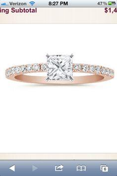 Shane co rose gold engagement ring $1500
