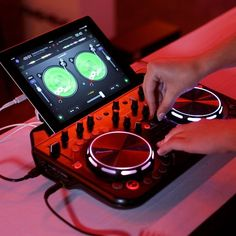 The easy-to-use Compact DJ Controller provides novice DJs with the essential tools to learn the basics of creating cool and unique mixes with their own music collection. Gadgets And Gizmos, Technology Gadgets, Tech Gadgets, Cool Gadgets, Science And Technology, Electronics Projects, Cool Electronics, Consumer Electronics, Iphone 5c