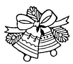 Festive Bells Rubber Stamp.