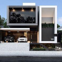 Architecture Design Concept, Modern Architecture House, Modern House Facades, Architecture Building Design, Minimalist Architecture, Architecture Interiors, Building Facade, Building Plans, Bungalow House Design