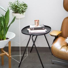 This afteroom side table by @menuworld and plant stand by Ivy Muse are just ! Simple, clean, beautifully designed, and can fit in so many different settings. In store and online. (Photo by @canarygrey // styled by @bodega_ltd )