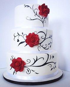 red rose cake  instagram