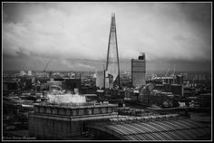 A London Skyline. In the photograph The Shard can be clearly seen towering above the rooftops of the other buildings in London. Photo ©Scott Ramsey Photography.
