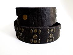 Size 34 86cm Leather Belt Strap, Lucky Brand Dark Brown Aged Leather with Studs, Southwestern Country Western Wear Boho, ID 507310303 by LaBelleBelts on Etsy
