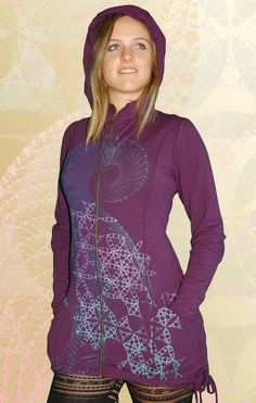 a601900a79e93  Music of the Spheres  Bustle Hoody - Purple