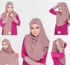 24 Ideas how to wear hijab turban scarfs Square Hijab Tutorial, Simple Hijab Tutorial, Pashmina Hijab Tutorial, Hijab Style Tutorial, New Hijab Style, How To Wear Hijab, Modele Hijab, Stylish Hijab, Girl Hijab