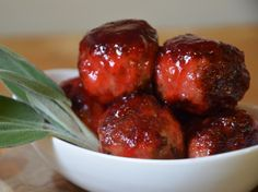 The best Thanksgiving appetizers: turkey sage meatballs with cranberry glaze