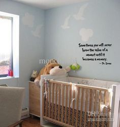 Wholesale cheap wall decal online - Find best 5pcs/lot sometimes you will never know the value of a moment... dr. seuss art wall decal at discount prices from Chinese wall stickers supplier on DHgate.com.