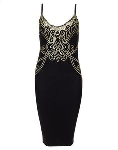 Michelle Keegan Embroidered Midi Dress