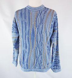 Vintage Coogi Blues Cotton Sweater L Australia Crew Neck Pullover Jumper #COOGI #Crewneck