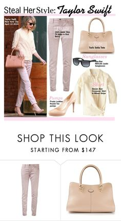"""""""Steal Her Style:Taylor Swift"""" by kusja ❤ liked on Polyvore featuring Joe's Jeans, Steven Alan, Tod's, Prada, Ray-Ban, taylorswift, Stealherstyle, CelebrityLook and celebstyle"""
