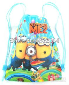 Lots of 12pcs Minion Despicable Me shoe bag, shoe pouch, gift bag, drawstring bag schoolbag shoulderbag-in Packaging Bags from Industry & Bu...