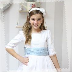 Vestidos de Comunión - Golositos Ropa Infantil Lisa, Communion Dresses, Vintage, Style, Fashion, Square Necklines, Draping, Skirts, White People