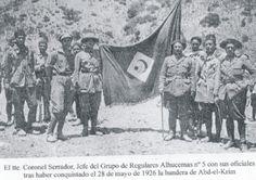 Me grupo de soldados, de Regulares nº 5, después de derrotar a 28 de de mayo de, 1926 Abd el-Krim, líder del ejército rebelde Rif.