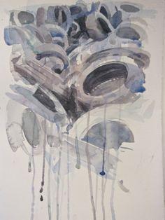 Tires, 2012. watercolours, cm 40x30