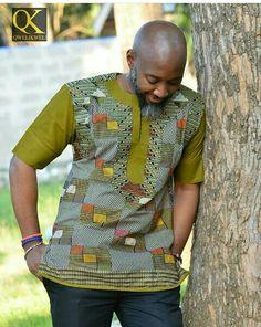 Kitenge Designs for See Over 150 Kitenge Design Photos African Shirts For Men, African Dresses Men, African Attire For Men, African Clothing For Men, African Wear, African Style, African Women, Nigerian Men Fashion, African Print Fashion